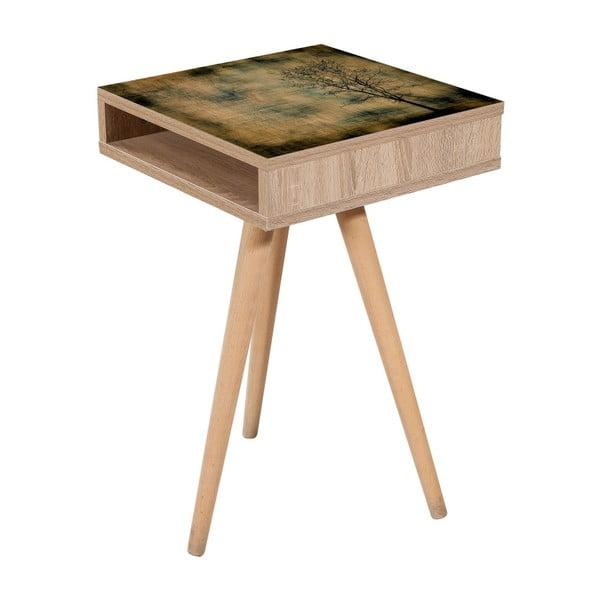 Odkladací stolík Zigon Dark, 40×40 cm