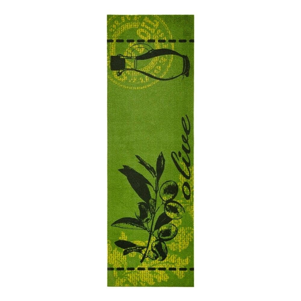 Zelený kuchyňský běhoun Zala Living Olive, 50 x 150 cm