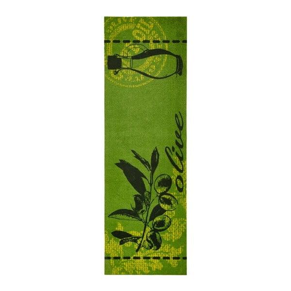 Zelený kuchyňský běhoun Zala Living Olive, 50x150cm