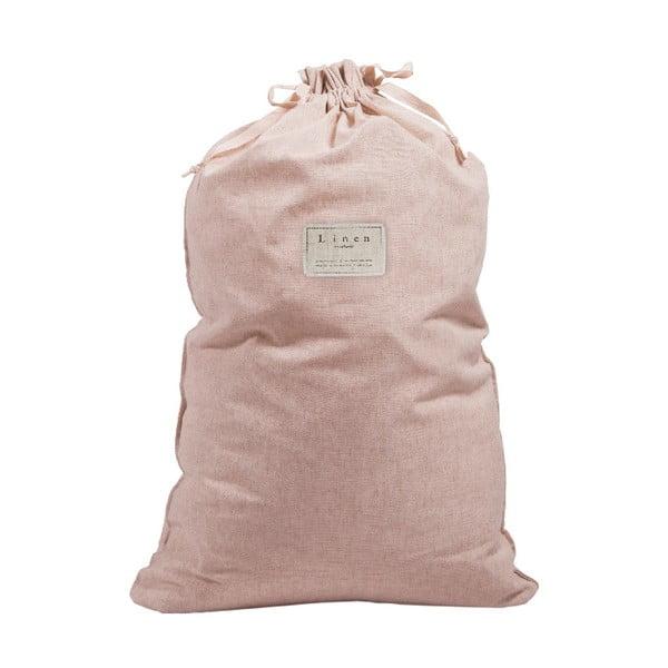 Worek na pranie z domieszką lnu Linen Couture Bag Rose, wys. 75 cm