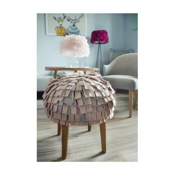 Taburetka Afro, růžová
