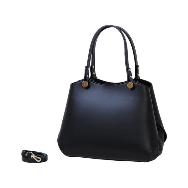 Černá kabelka z pravé kůže Andrea Cardone Sante