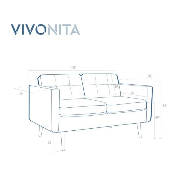 Canapea cu 2 locuri Vivonita Magnus, bej