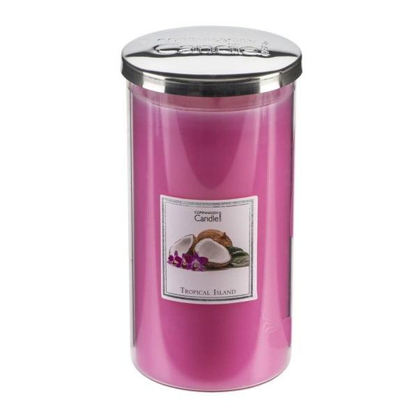 Aroma svíčka s vůní tropického ovoce Copenhagen Candles Tropical Island Talll, doba hoření 70 hodin