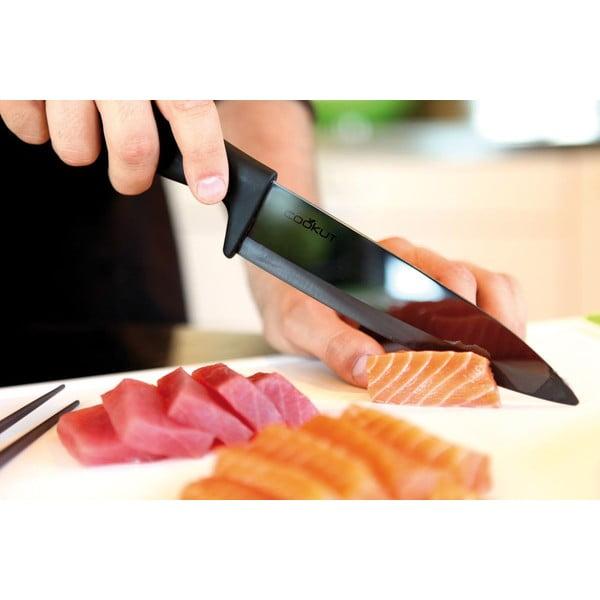 Keramický nůž Couteaux 18 cm, černý
