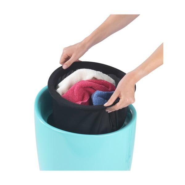 Tyrkysový koš na prádlo a taburetka v jednom Wenko Candy