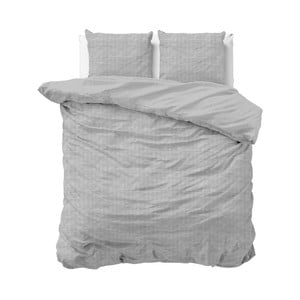 Šedé povlečení z bavlny na dvoulůžko Sleeptime, 200x200 cm