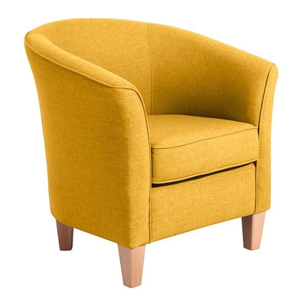 Žluté křeslo Max Winzer Livia Yellow