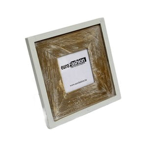 Hnědobílý dřevěný rámeček, 2ks