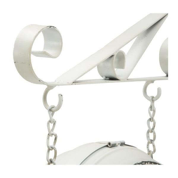 Bílé nástěnné kovové hodiny Mauro Ferretti