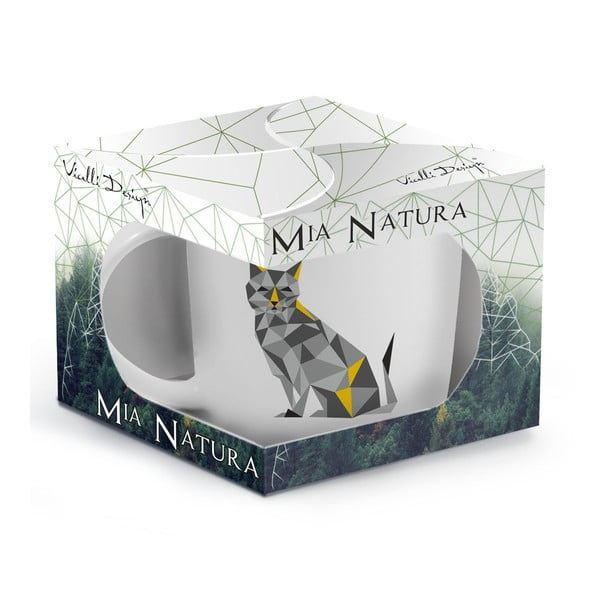 Porcelánový hrnek Vialli Design Wild Cat, 370 ml