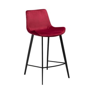 Vínová barová židle DAN–FORM Denmark Hype Velvet