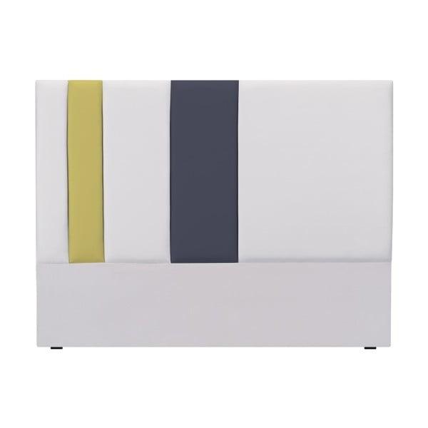 Tăblie pat Mazzini Sofas Dahlia, 120 x 200 cm, gri - galben