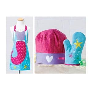 Dětská sada zástěry, čepice a kuchyňské rukavice Stella