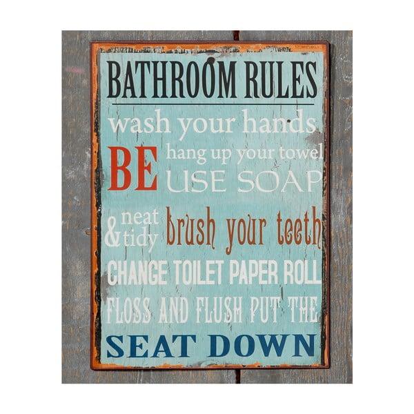 Nástěnná cedule Bath Rules