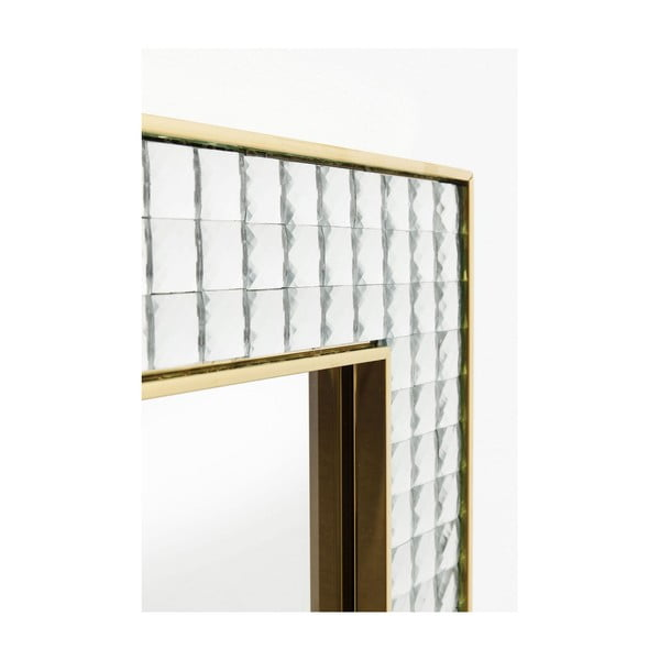 Nástěnné zrcadlo Kare Design Crystals Gold, 120x80cm