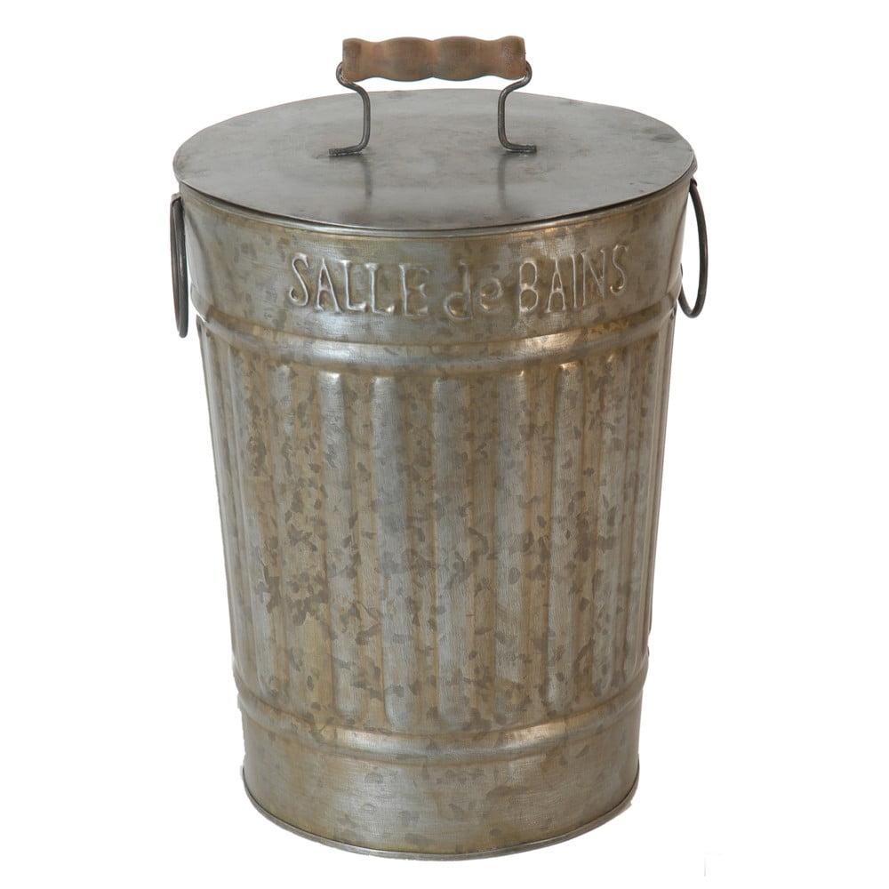 Kovová dóza ve tvaru popelnice Antic Line Zinc Antic, výška 26 cm