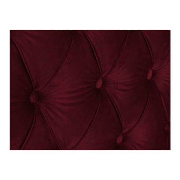 Červené čelo postele Mazzini Sofas, 160 x 120 cm