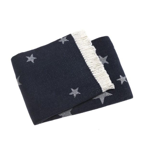 Tmavě modrá deka Euromant Stars 140x180 cm