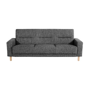 Canapea extensibilă cu 3 locuri Max Winzer Janis, alb-negru