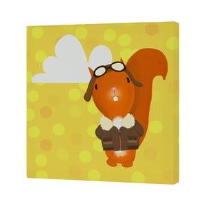 Nástěnný obrázek Baleno Ballon Ride Squirrel, 27x27 cm