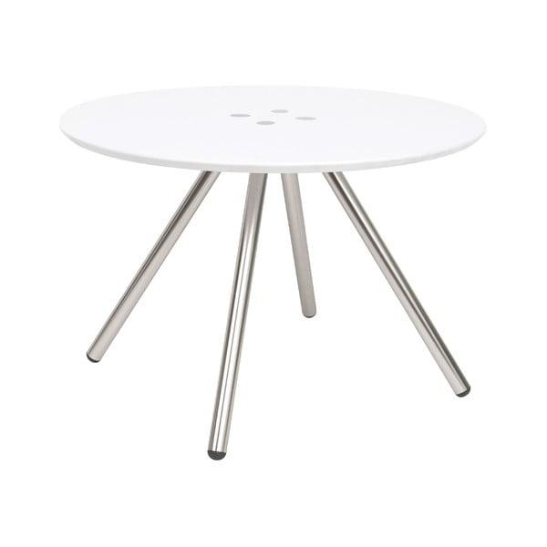 Biały stolik Letmotiv Sliced, ø 60 cm