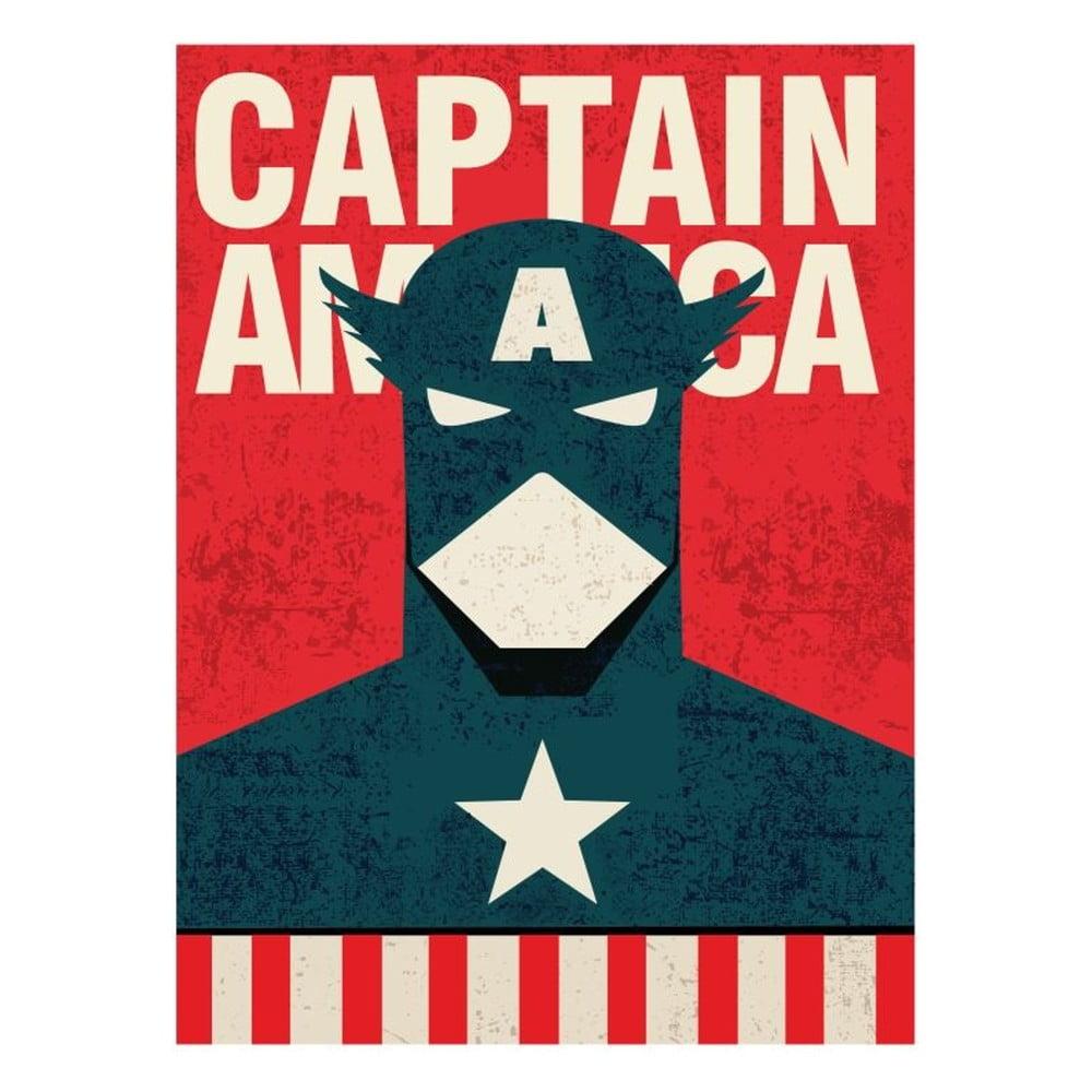 Plakát Blue-Shaker Super Heroes Captain America, 30 x 40 cm