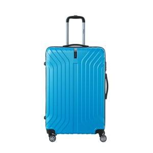 Tyrkysově modrý cestovní kufr na kolečkách SINEQUANONE Tina, 107 l
