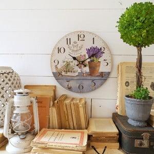 Nástěnné hodiny Orchidea Lavender