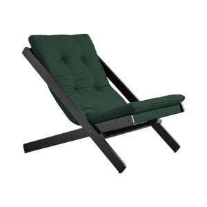 Skládací křeslo Karup Design Boogie Black/Dark Green