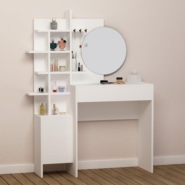 Bílý kosmetický stůl Mup White