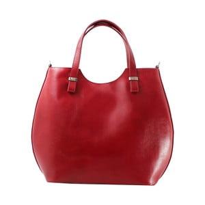 Červená kožená kabelka Ore Diece Barbere