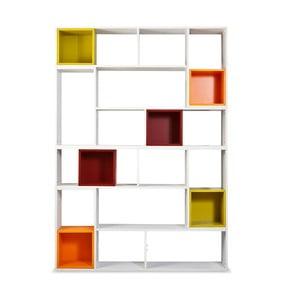 Knihovna Lego s barevnými boxy