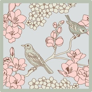 Set 2 fețe de masă Birds, 20X20 cm