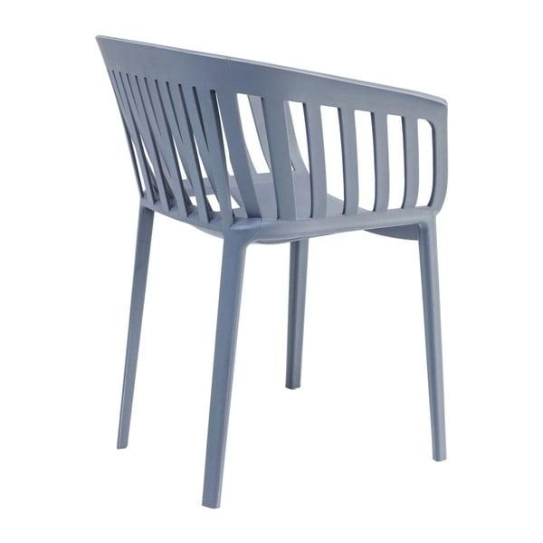 Sada 4 šedých jídelních židlí Kare Design Gate