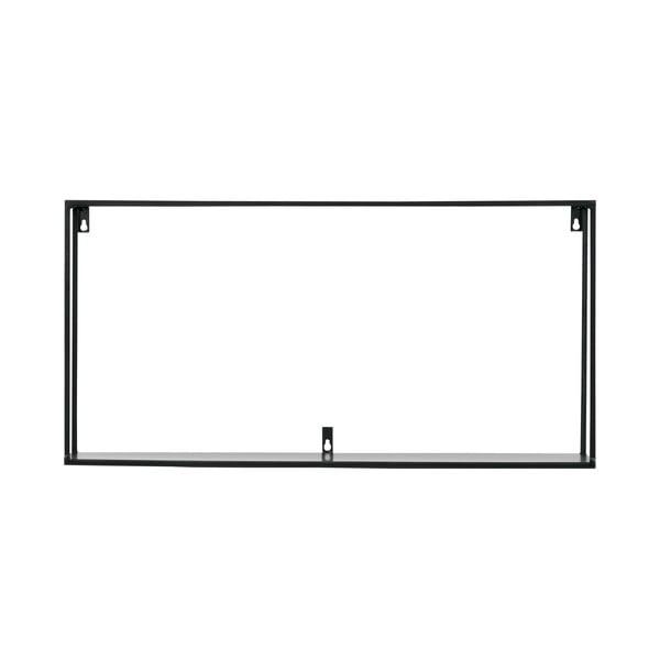 Raft pentru perete WOOOD Meert, 70 cm L, negru