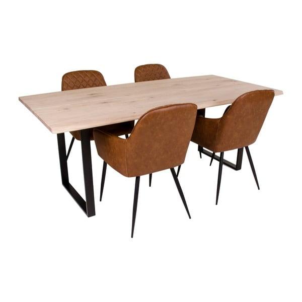 Jídelní stůl s deskou z dubového dřeva House Nordic Chartres,200x95cm