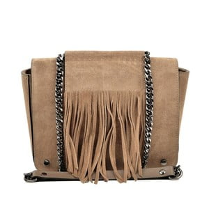 Béžová kožená kabelka Luisa Vannini Resto