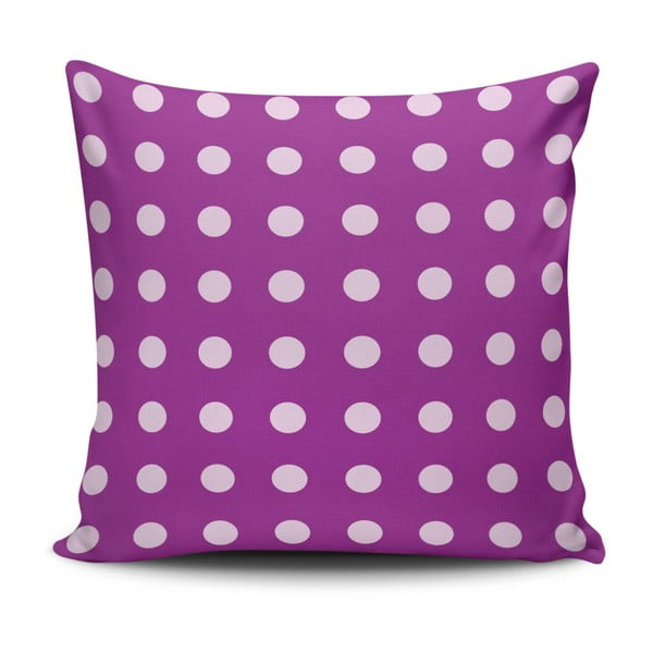 Pernă Purple Dots, 45 x 45 cm, cu umplutură