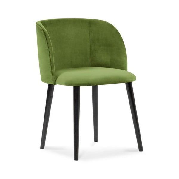 Zelená jídelní židle se sametovým potahem Windsor & Co Sofas Aurora
