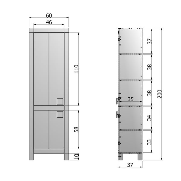 Skříň De Eekhoorn Joep, 200 cm