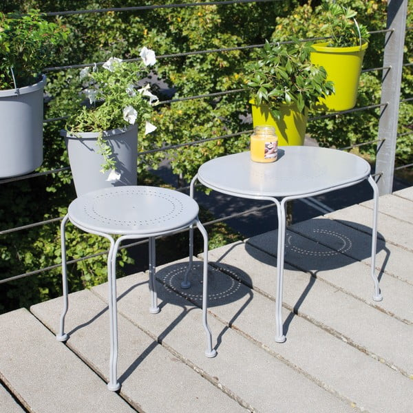 Šedý stolek na balkón Esschert Design Nature