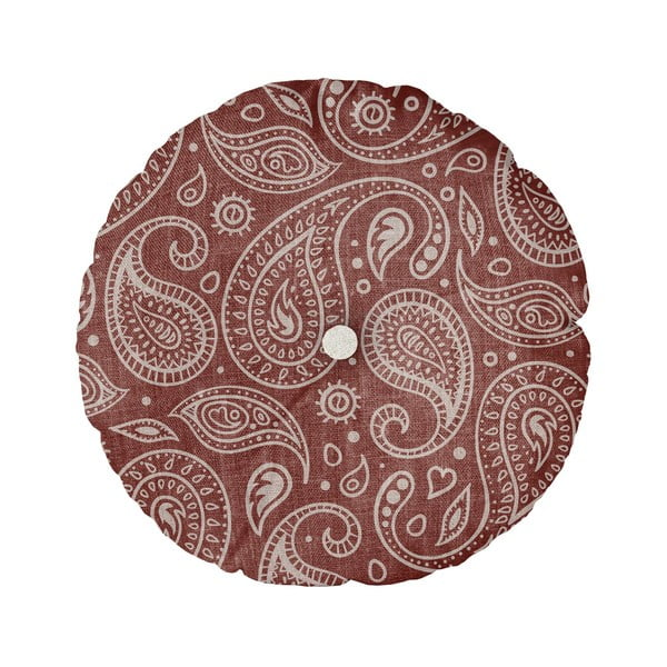 Pernă Linen Couture Cojin Redondo Paisley, ⌀ 45 cm