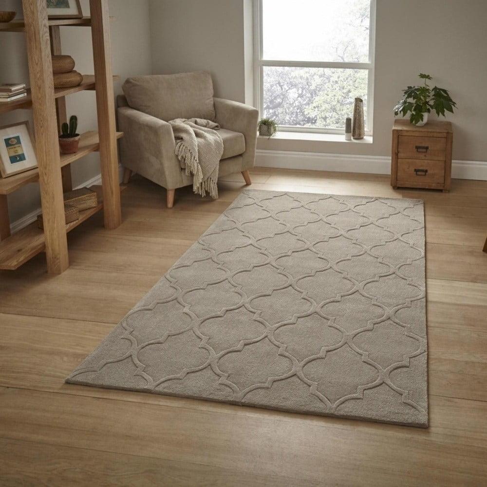 Béžový koberec Think Rugs Hong Kong, 120 x 170 cm