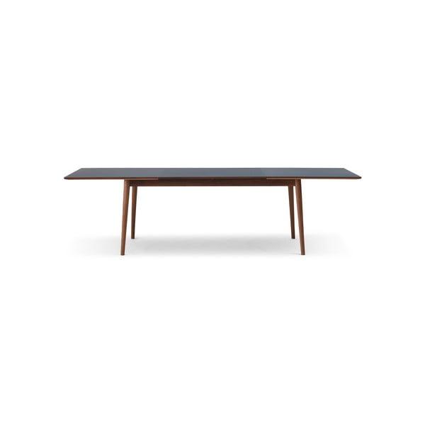 Rozkládací jídelní stůl s tmavou deskou WOOD AND VISION Sesame, 175 x 90 cm