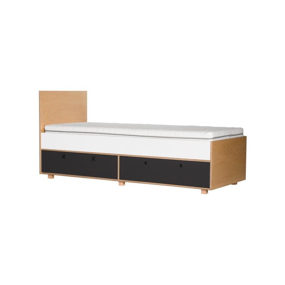 Černá jednolůžková postel Durbas Style