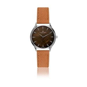 Dámské hodinky s koňakově hnědým páskem z pravé kůže Frederic Graff Lismo