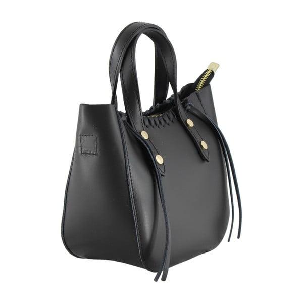 Černá kožená kabelka Anna