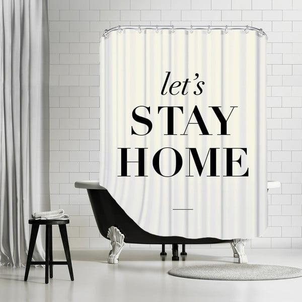 Koupelnový závěs Let's Stay Home, 180x180 cm