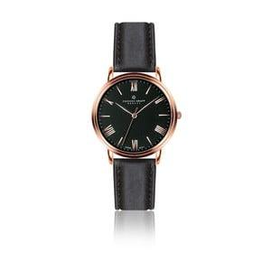 Pánské hodinky s černým páskem z pravé kůže Frederic Graff Monch